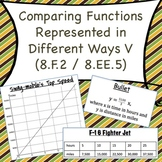 8.F.2 Comparing Functions Represented in Different Ways V