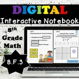 8.F.3 Interactive Notebook, Linear vs. Non - Linear Functions