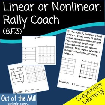 8.F.3 Linear or Nonlinear? Rally Coach