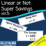 8.F.3 Linear or Not: Super Savings