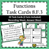 8.F.3 Task Cards, Linear vs. Non-linear Functions