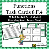8.F.4 Task Cards, Determining Rate of Change, Constructing Functions