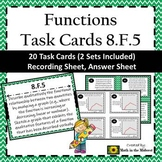 8.F.5 Task Cards, Anaylzing and Sketching Graphs of Functions