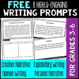 8 FREE Writing Prompts - Opinion, Informational, Explanato