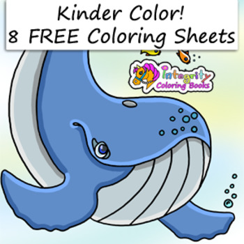 8 FREE coloring pages Hand -picked for Prek-K by Integrity Coloring ...