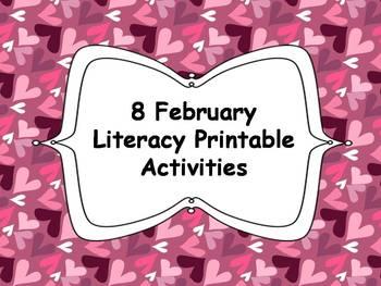8 February Literacy Printables