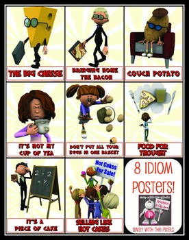 8 Food Idiom Posters - Ready to Print from Away With The Pixels