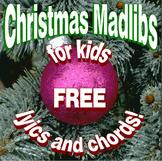 8 Fun Christmas Madlibs for Kids w Guitar Chords Teaches English Language Skills