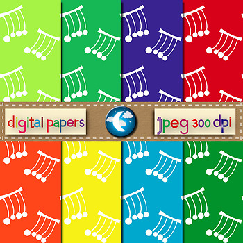 8 Free Digital Paper Background in 8 Colors