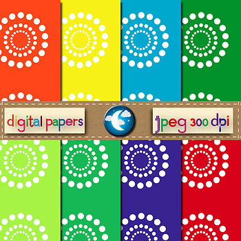 8 Free Floral Digital Paper Background in 8 Colors