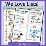 "8 Free ""We Love Lists!"" Writing Templates"