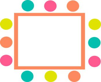 8 Fun Polka Dot Frames - Commercial use OK *Freebie*