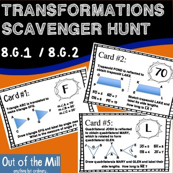 8.G.1 / 8.G.2 Transformations Scavenger Hunt