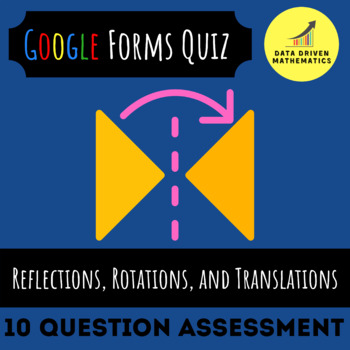 8.G.1 - Reflections, Rotations, and Translations Quiz (Google Forms + Paper)