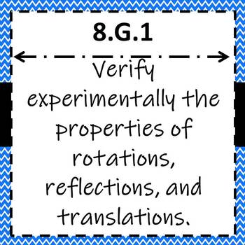 8.G.1 Task Cards, Properties of Rotations, Reflections, and Translations