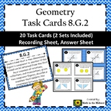 8.G.2 Task Cards, Describing Sequences of Congruent Figures