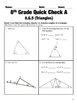 8.G.5-8.G.9 Geometry Common Core Quick Check Mini Assessments