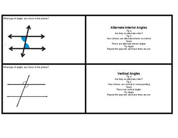 8.G.5 Task Cards
