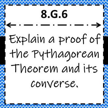 8.G.6 Task Cards, Proof of the Pythagorean Theorem and its Converse