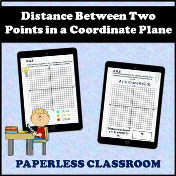 8.G.8 Digital Interactive Notebook, Finding the Distance Between Two Points