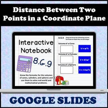 8.G.9 Interactive Notebook, Volume of Cones, Cylinders & Spheres