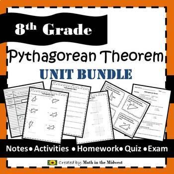 Pythagorean Theorem Bundle - 8.G.6, 8.G.7, 8.G.8 {EDITABLE}