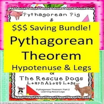 8.G.B.6 Pythagorean Theorem Bundle Special Education/ESL