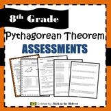 Pythagorean Theorem Quiz - 8.G.7 and 8.G.8