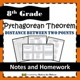 Pythagorean Theorem - Distance Between Two Points - 8.G.8