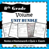 Volume Unit - 8.G.9 {Area, Circumference,Spheres, Cylinders, Cones} EDITABLE