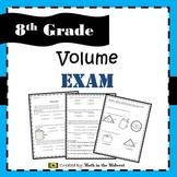 Volume of Cylinders, Cones, & Spheres Exam - 8.G.9