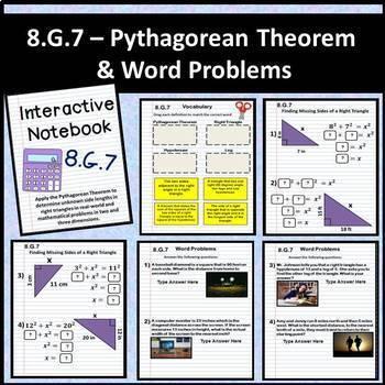 8.G Math Interactive Notebook: Geometry Digital Notebook