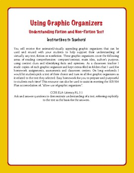 8 Graphic Organizers- Use Throughout Literary Genres