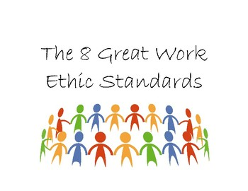 8 Great Work Ethic Standards Posters