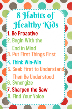 8 Habits of Healthy Kids Poster