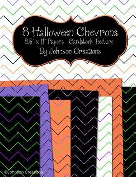 8 Halloween Chevron Papers