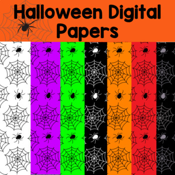 8 Halloween Digital Papers and backgrounds- spider webs