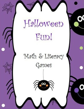 8 Halloween Themed Math and Literacy Games