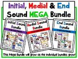 Initial, Medial & End Sound Recognition MEGA Bundle
