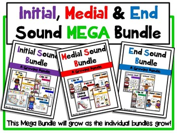 Initial, Medial & End Sound Recognition MEGA Bundle