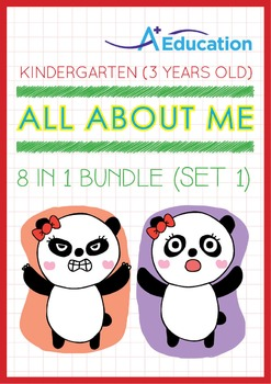 8-IN-1 BUNDLE - All About Me (Set 1) - Kindergarten, K1 (3 years old)
