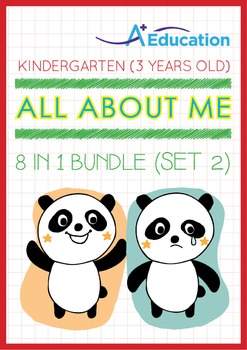 8-IN-1 BUNDLE - All About Me (Set 2) - Kindergarten, K1 (3 years old)