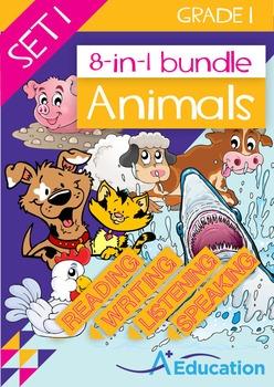 8-IN-1 BUNDLE- Animals (Set 1) – Grade 1