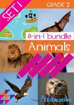 8-IN-1 BUNDLE- Animals (Set 1) – Grade 2