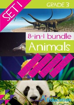 8-IN-1 BUNDLE- Animals (Set 1) – Grade 3