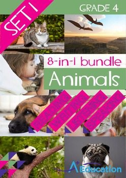 8-IN-1 BUNDLE- Animals (Set 1) – Grade 4