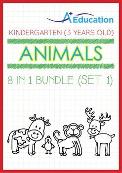 8-IN-1 BUNDLE - Animals (Set 1) - Kindergarten, K1 (3 years old)