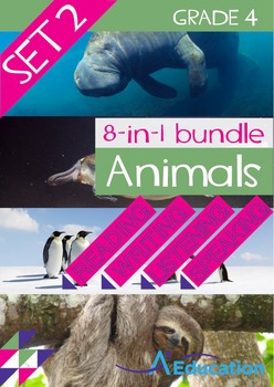 8-IN-1 BUNDLE- Animals (Set 2) – Grade 4