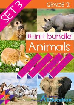 8-IN-1 BUNDLE- Animals (Set 3) – Grade 2