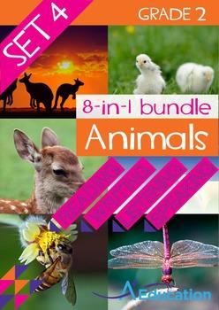 8-IN-1 BUNDLE- Animals (Set 4) – Grade 2